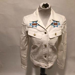Lauren Jeans Co. white jean jacket size small